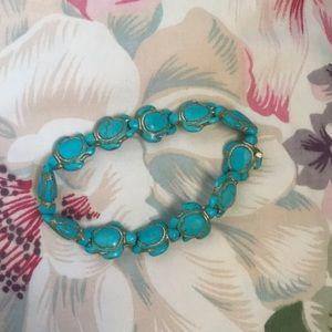 🐢Aqua blue turtle bracelet/ anklet 🐢